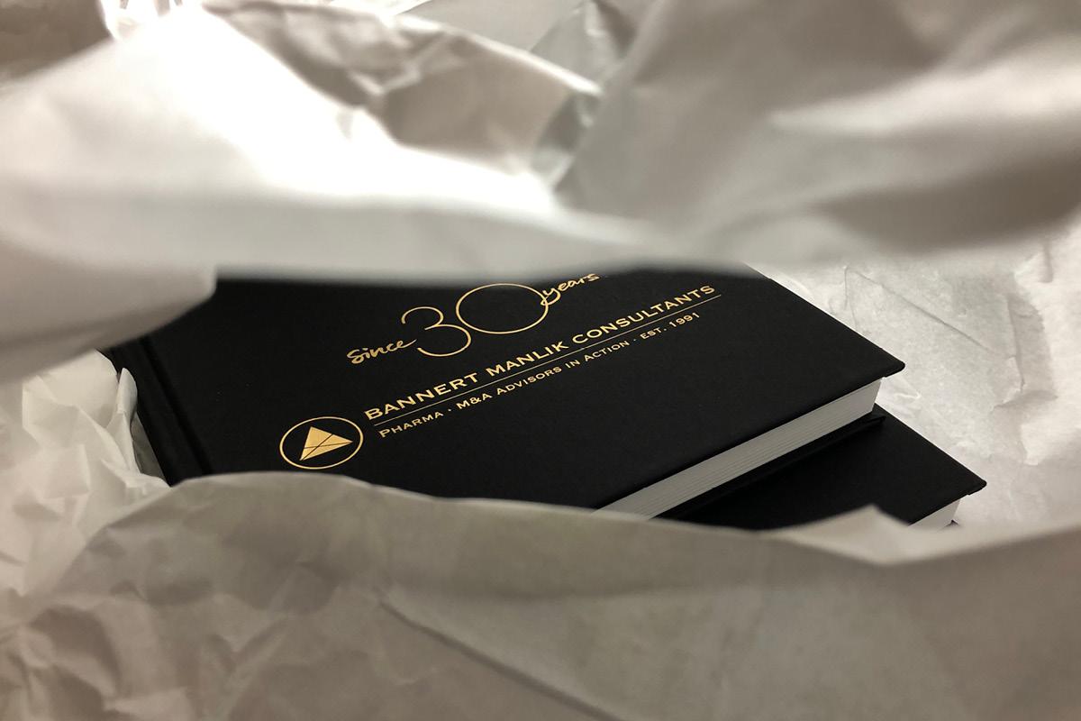 Design eines hochwertigen Notizbuches für Bannert Manlik Consultants.