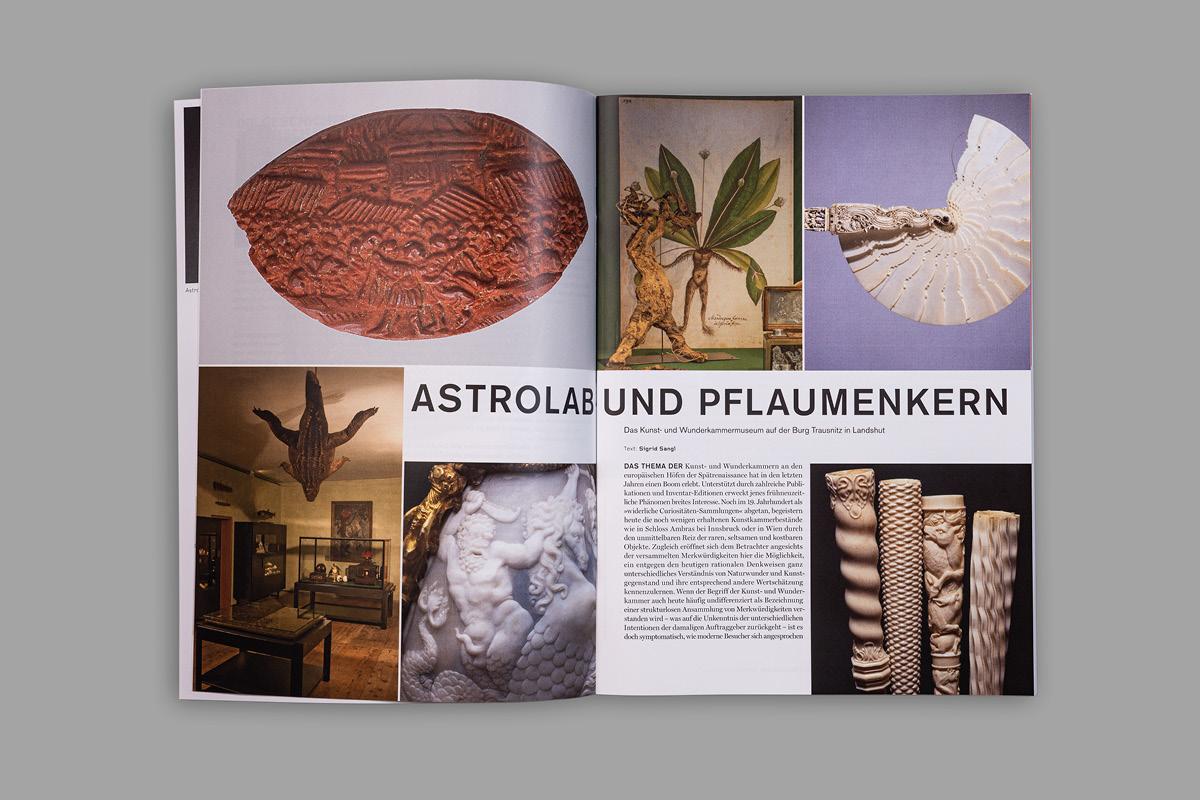 Design einer Aufmacherseite der Zeitschrift aviso mit vielen Bilder.