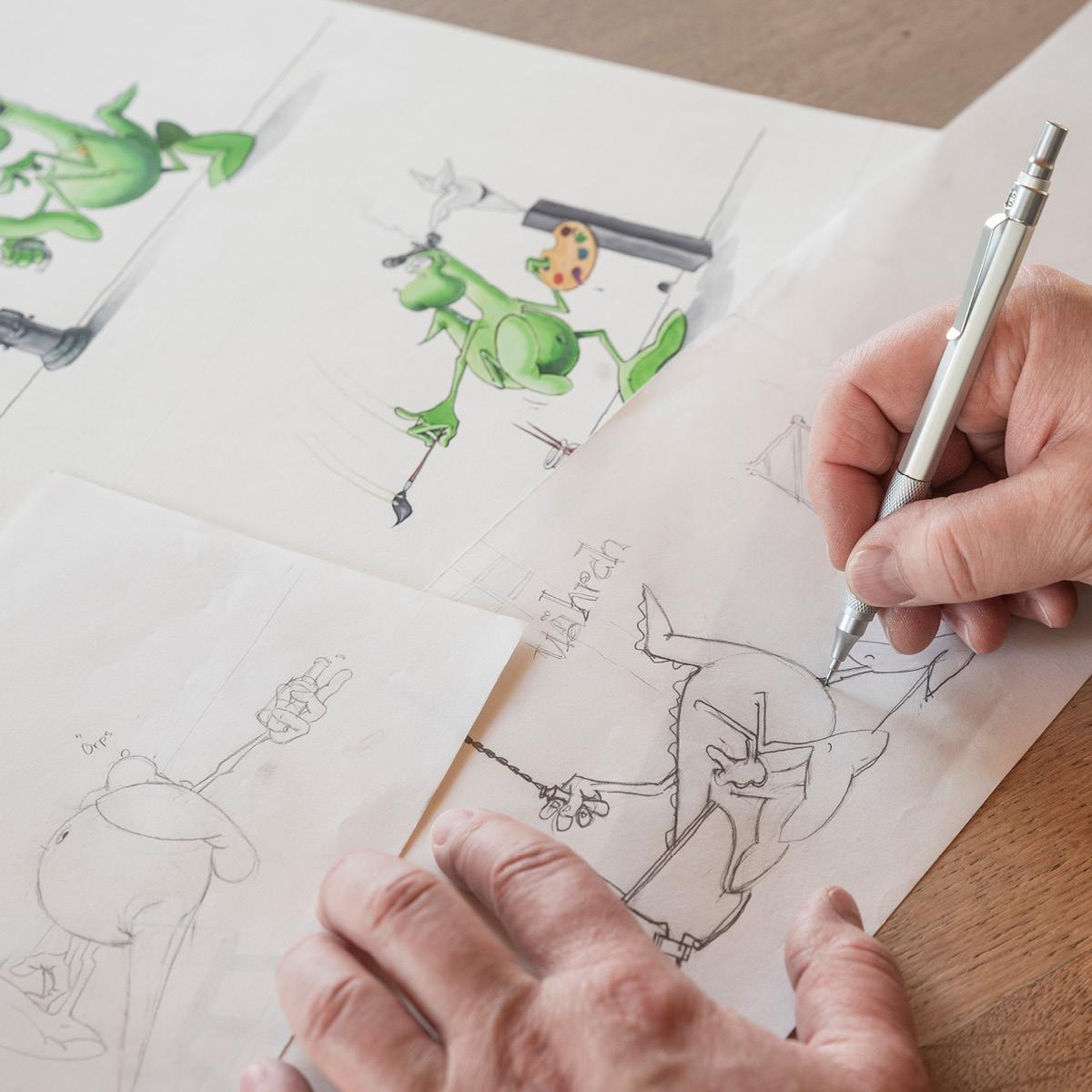Illustration lustiger Figuren durch das Atelier Hämmerle