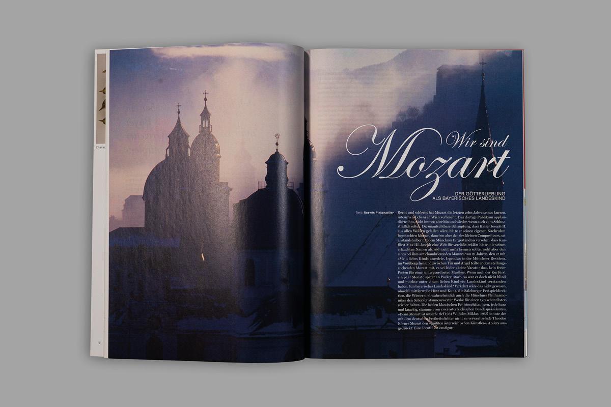 Design eines klassischen und eleganten Layouts für die Kulturzeitschrift aviso.