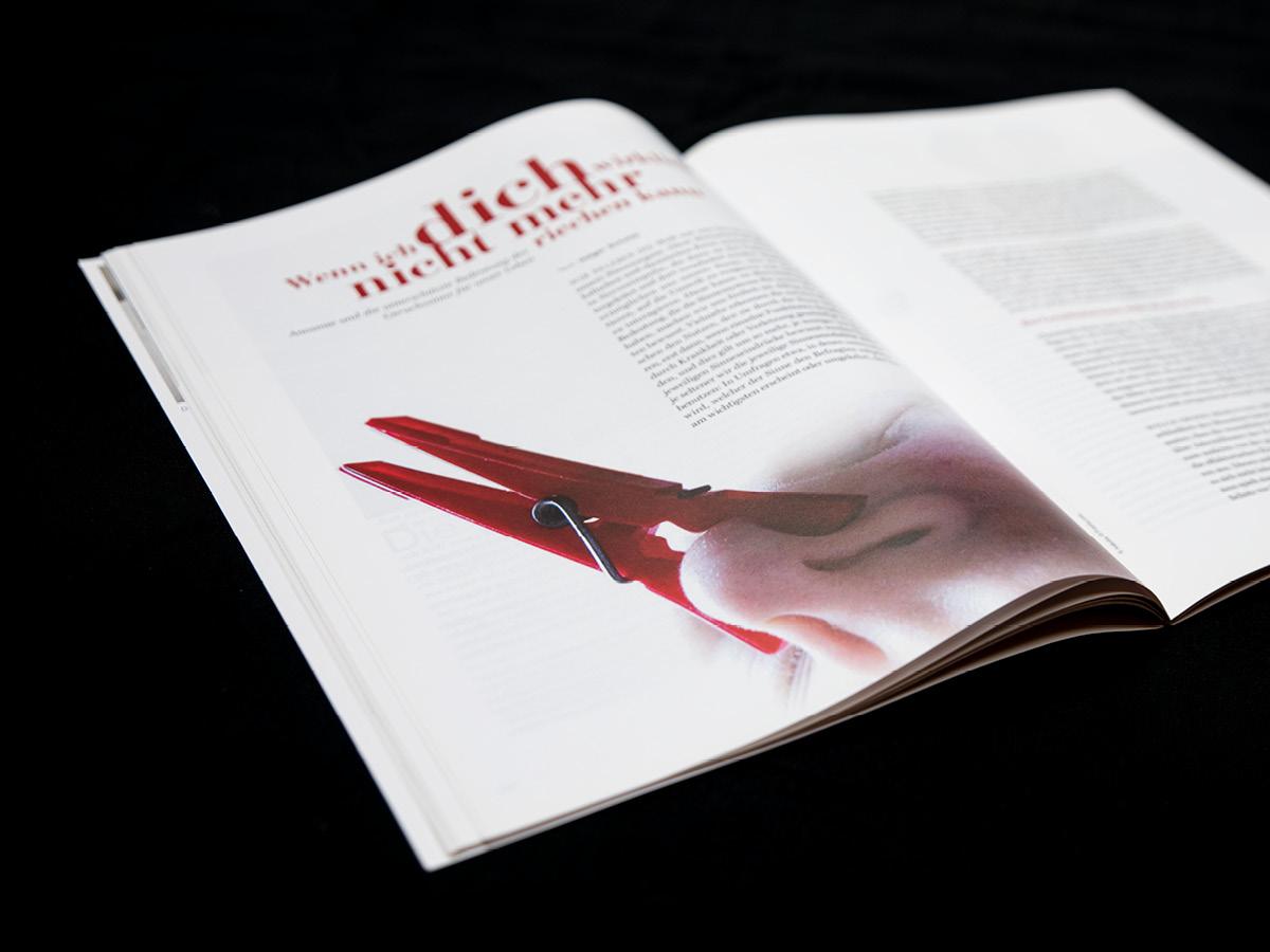 Design einer Magazin Doppelseite der Zeitschrift aviso für das bayerische Staatsministeriums für Wissenschaft und Kunst in München.
