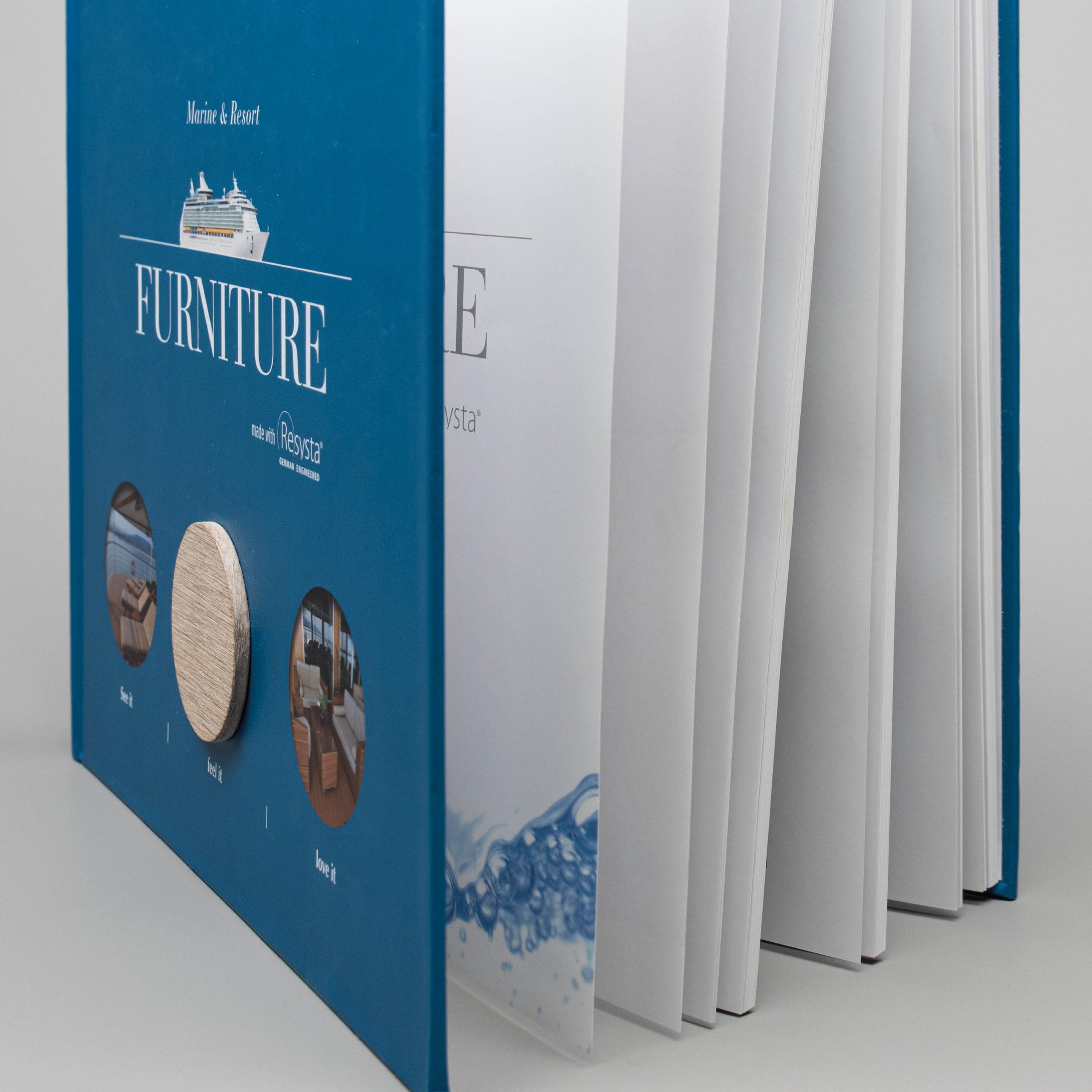 Design eines Buchs für Resysta