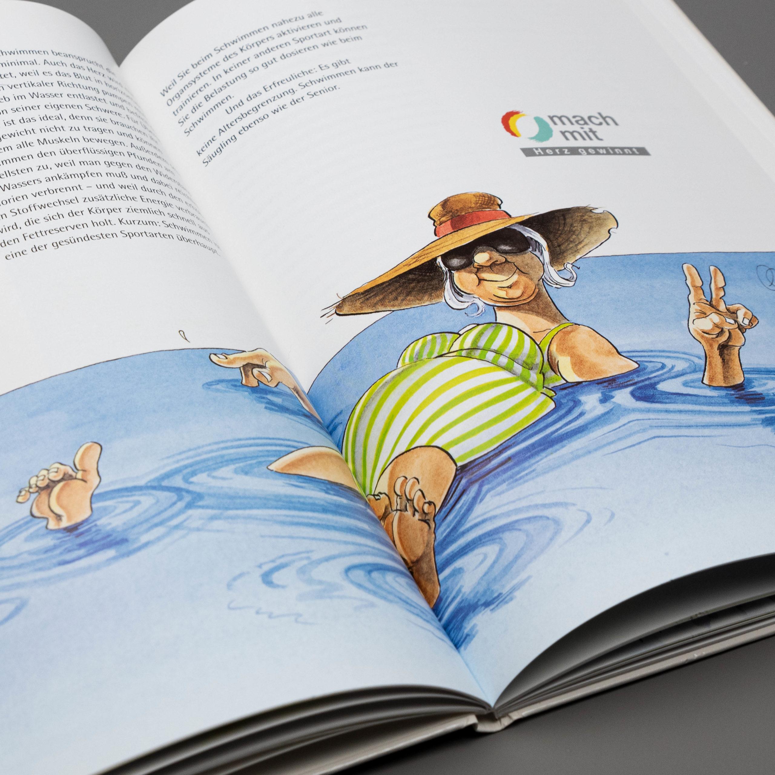 """Illustration für das Sachbuch """"Fit durch Sport"""""""