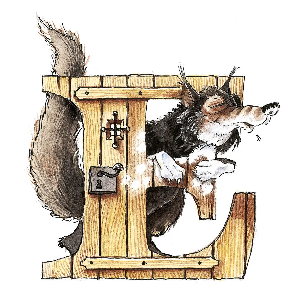 Illustriertes Initial für ein Märchenbuch