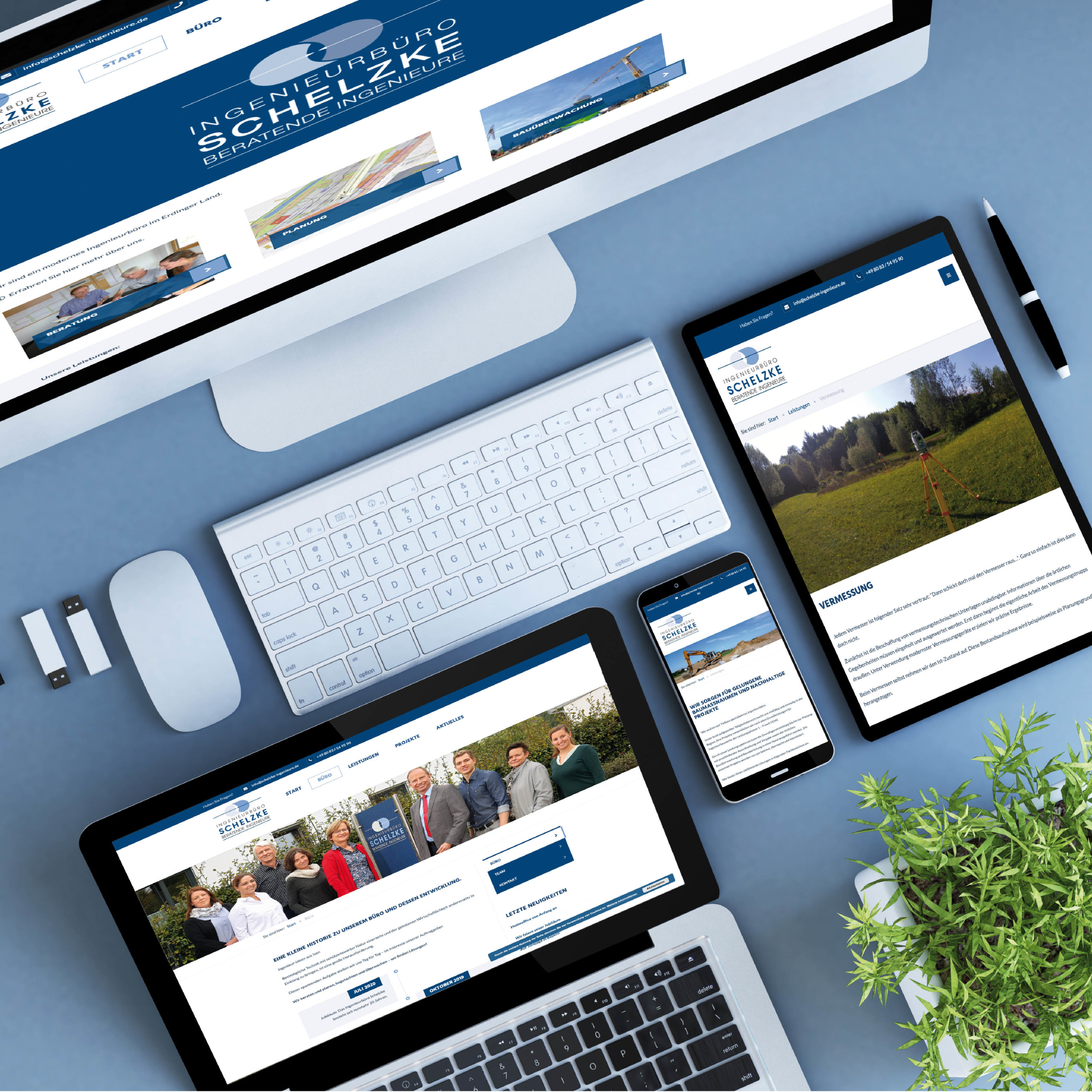 Webdesign für das Ingenieurbüro Schelzke