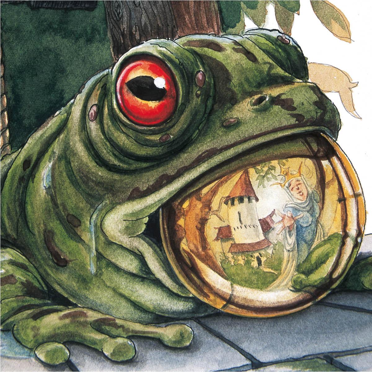"""Buchillustration für das Märchen """"Der Froschkönig"""""""