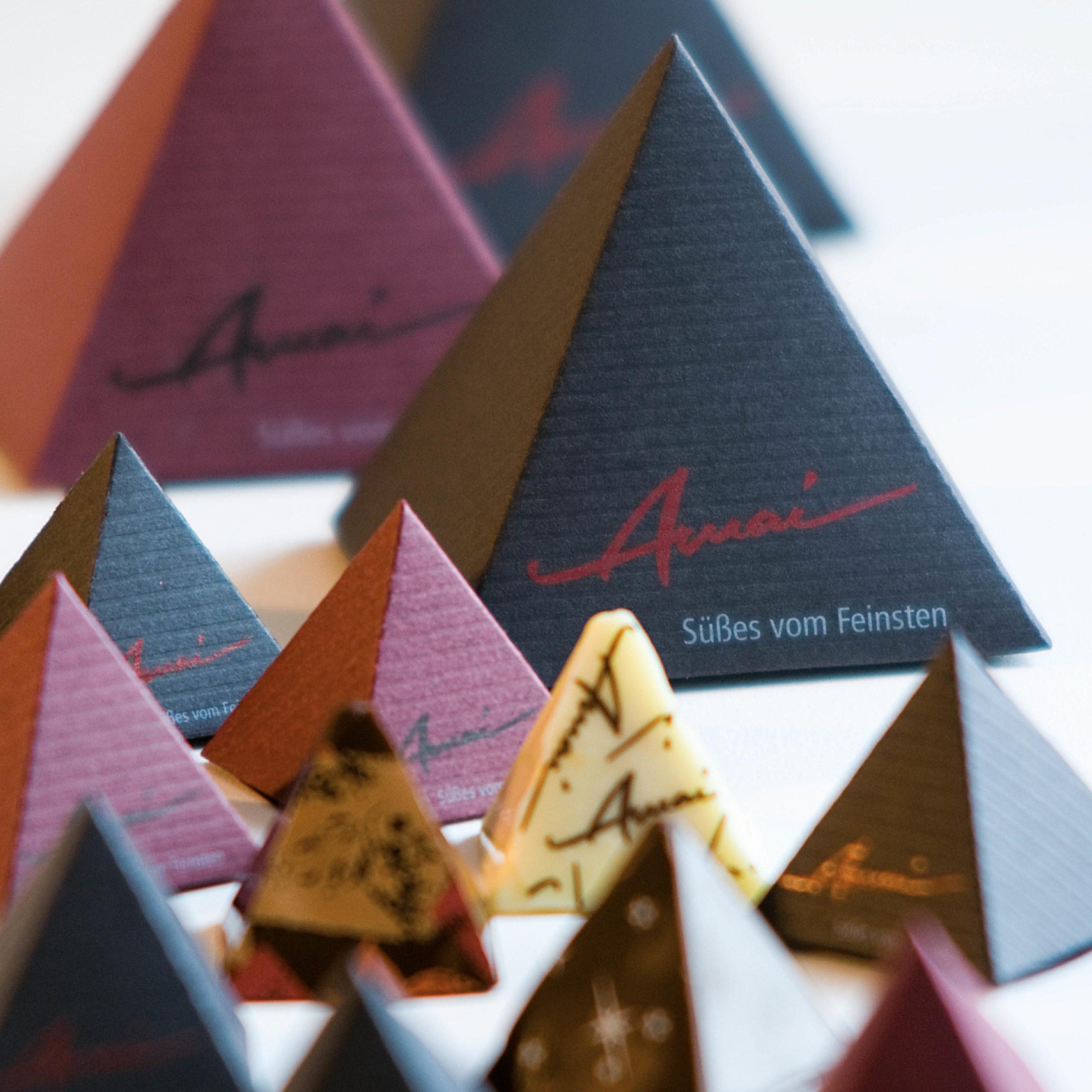 Individuelle Verpackung für außergewöhnliche Pralinen von Amal