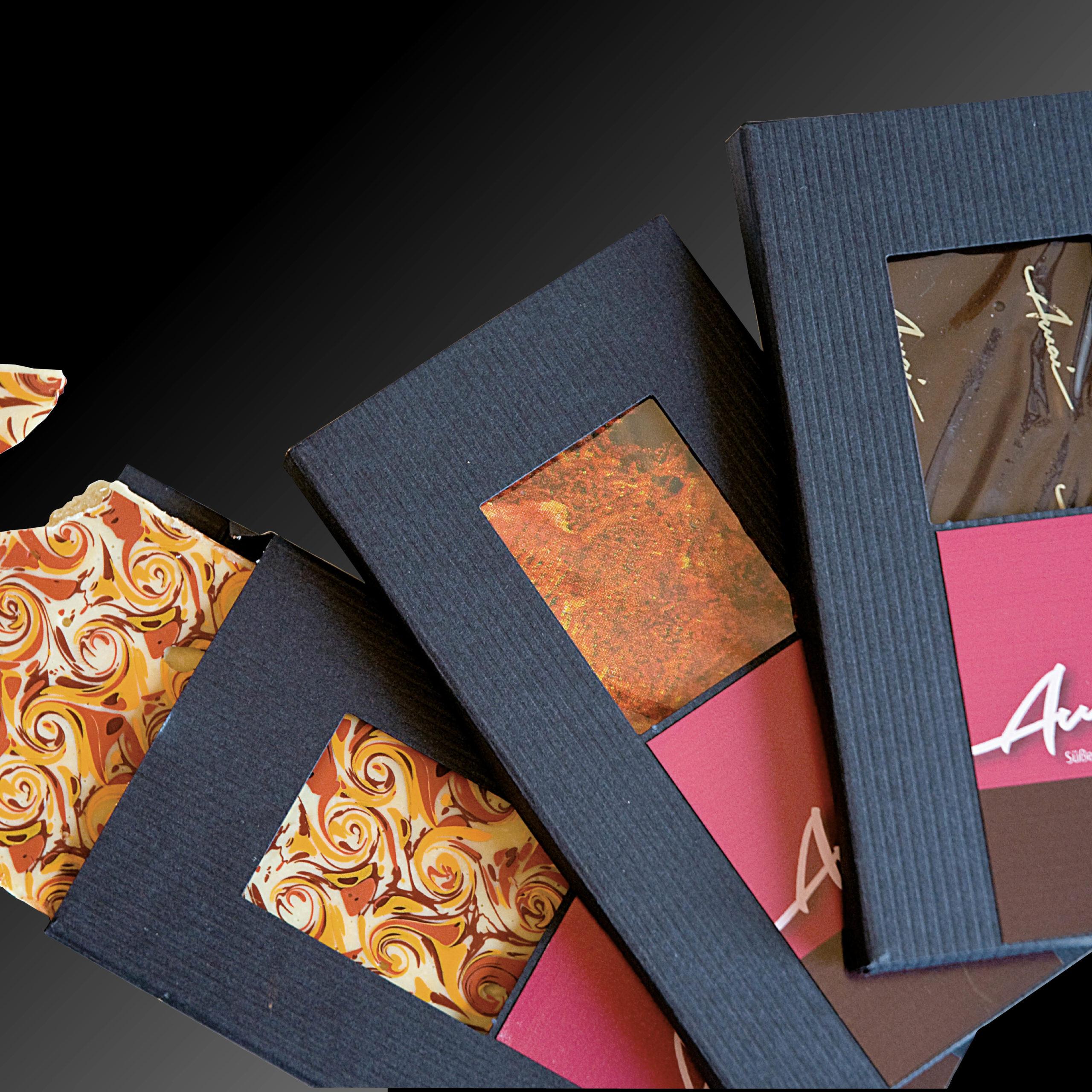 Design einer Verpackung für hochwertige Schokolade