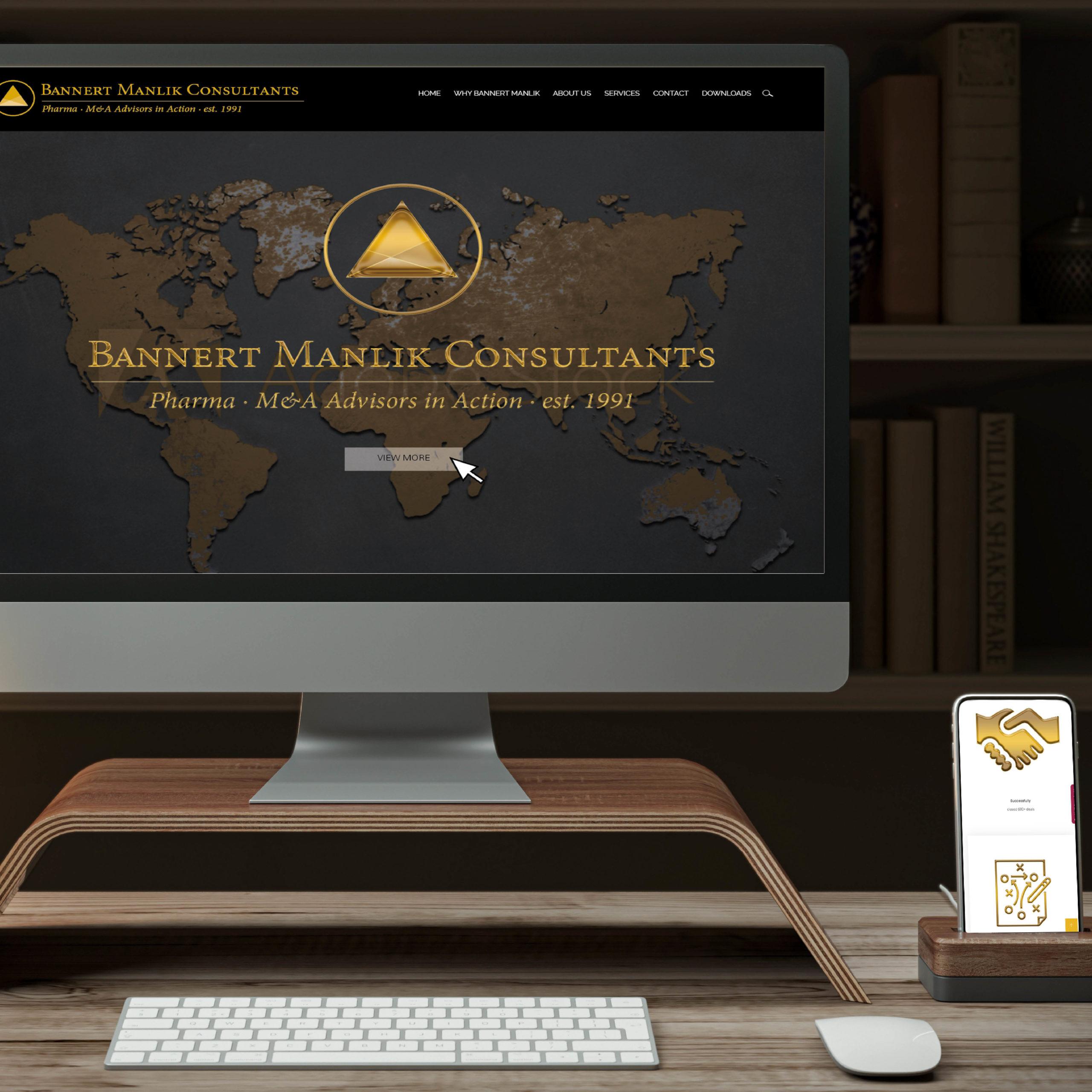 Design einer edeln Webseite für die Beratungsfirma Manila Pharma Consultants