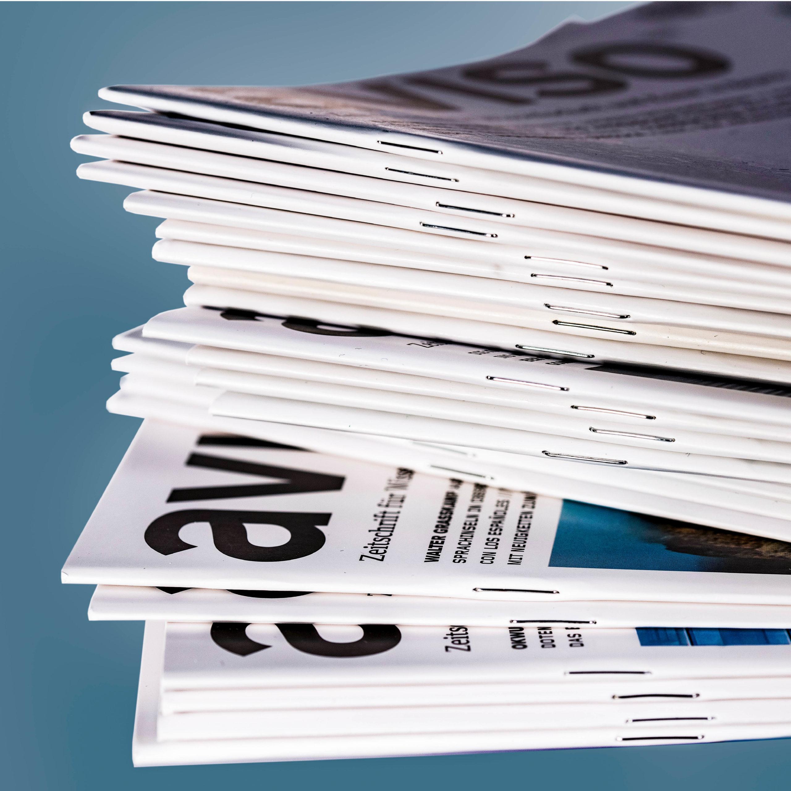 Gestaltung der Zeitschrift aviso für Wissenschaft und Kunst in Bayern